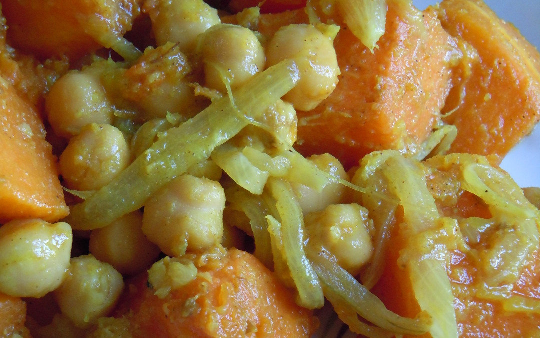 Curry de calabaza y garbanzos