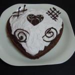 Tarta de chocolate y yogur de San Valentín